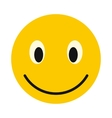 Smiley face icon flat style vector image