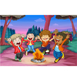 Fire camp of kids vector image