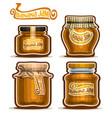 banana jam in glass jars vector image