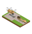 military base isometric composition vector image
