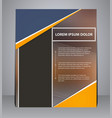 business brochure flyer design in a4 size vector image