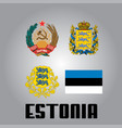 official government elements of estonia vector image