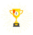 first place cup - winner award prize bowl vector image vector image