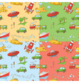 Transportation patterns vector image vector image