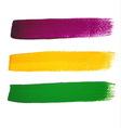 Mardi Gras watercolor brush strokes vector image