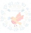 bird and a letter vector image