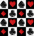 Four card suits Cards deck pattern vector image
