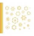 Ethnic vintage gold pattern vector image