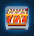 casino smartphone game icon with 777 win vector image