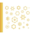 Ethnic vintage gold pattern vector image