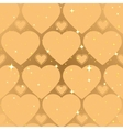 Golden heart shape Abstract seamless background vector image