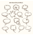 Hand Drawn Speech Bubbles Sketch vector image
