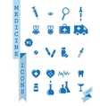 Health Medicine icons vector image