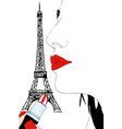 Makeup in Paris vector image