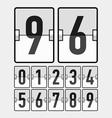 Mechanical timetable scoreboard display numbers vector image