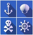 Pirates icons vector image