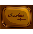 stylish chocolate bar vector image
