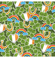 seamless irish pattern vector image