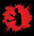 table tennis player ping pong man graphic vector image