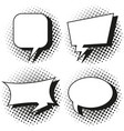 four designs of speech bubbles vector image vector image