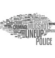 lineup word cloud concept vector image