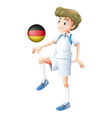 A football player from Germany vector image vector image