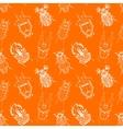 Nice beetles pattern vector image