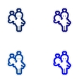 Set of paper stickers on white background man vector image