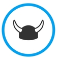 Horned Helmet Icon vector image