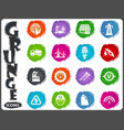 alternative energy icons set in grunge style vector image