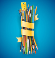 Batch of pencils vector image