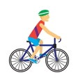 Biker with Bicycle in Flat Design vector image