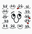 cartoon facial expression of joy of sadness vector image