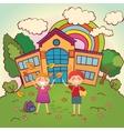 Children back to school vector image