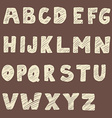Handwritten font Hand drawn sans serif type vector image