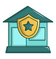 protected home icon cartoon style vector image
