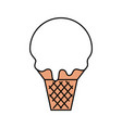sweet ice cream cold flavor fresh tasty vector image