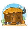 thatched hut design gaming applications game vector image