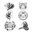Tiger set vector image