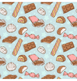 Vintage seamless texture with sweets vector image