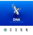 DNA icon in different style vector image