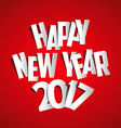 Letter Folding with Paper Happy New Year 2017 vector image