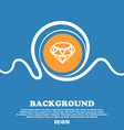 Diamond Icon sign Blue and white abstract vector image