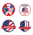memorial day label vector image
