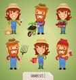 farmers set1 1 vector image