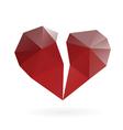 broken heart low poly design vector image vector image