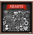Heart doodles set vector image