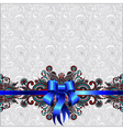 Holiday background with blue ribbon vector image