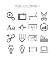 Set of simple icons for web development and vector image