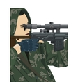 Sniper and sniper scope vector image